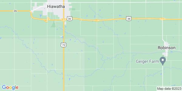 Map of Hiawatha Township, KS