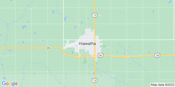Map of Hiawatha, KS