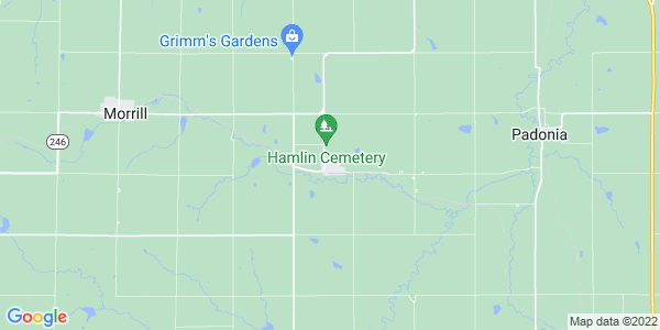 Map of Hamlin, KS
