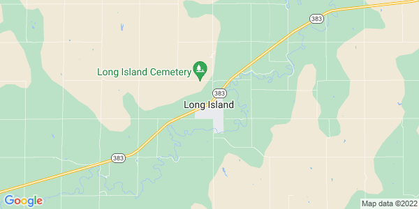 Map of Long Island, KS