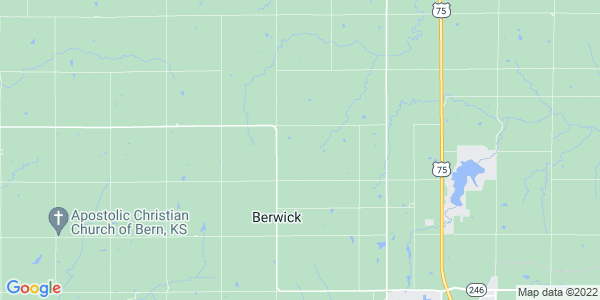 Map of Berwick, KS