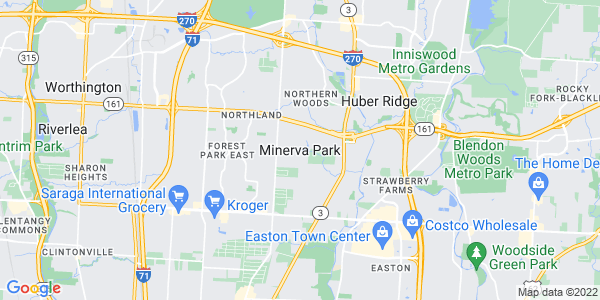 Map of Minerva Park, OH