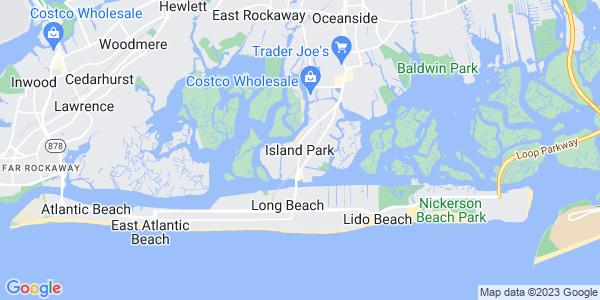 Map of Island Park, NY
