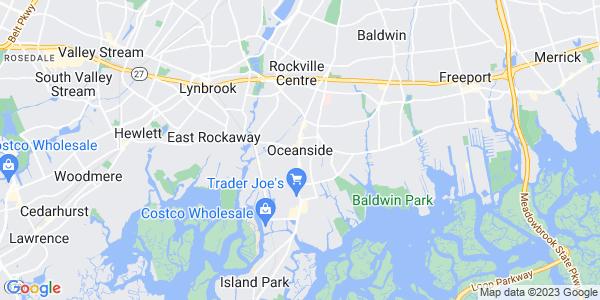 Map of Oceanside, NY