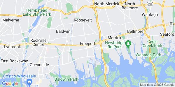 Map of Freeport, NY