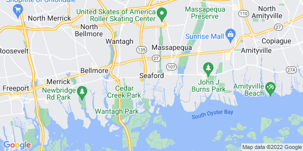 Map of Seaford, NY