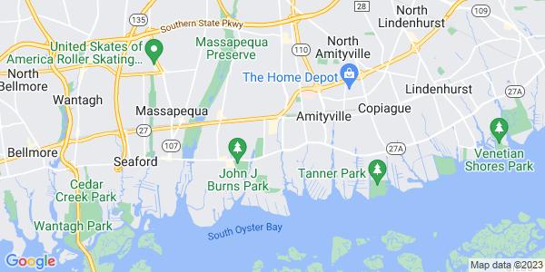 Map of East Massapequa, NY