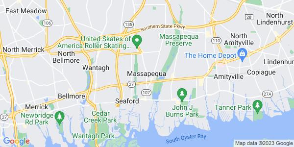 Map of Massapequa, NY
