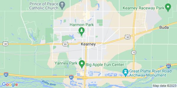 Map of Kearney, NE