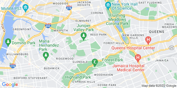 Map of Middle Village, NY