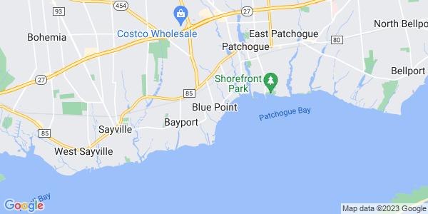 Map of Blue Point, NY