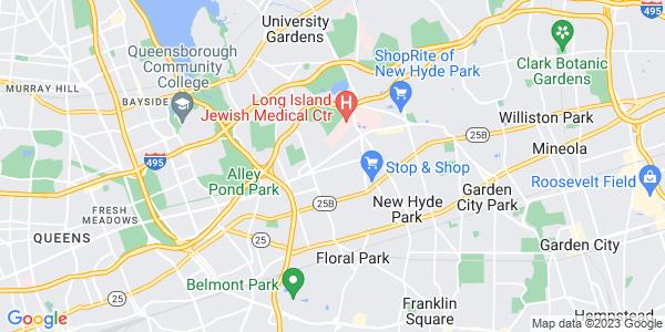 Map of Glen Oaks, NY