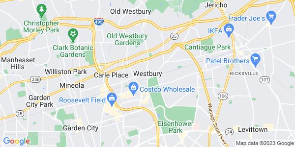 Map of Westbury, NY
