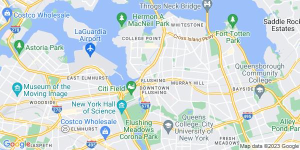 Map of Flushing, NY