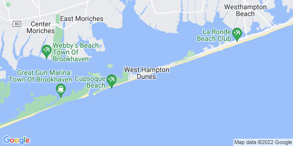 Map of West Hampton Dunes, NY