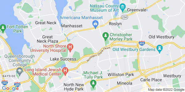 Map of North Hills, NY