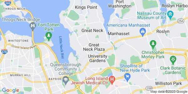 Map of Great Neck Plaza, NY