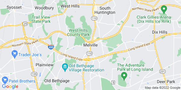 Map of Melville, NY