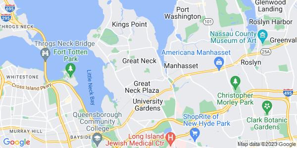 Map of Kensington, NY