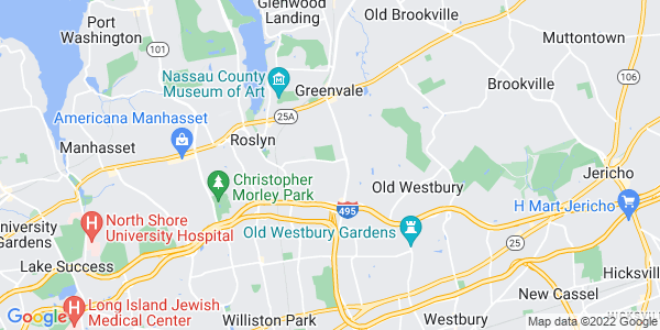Map of East Hills, NY