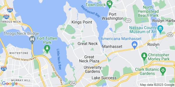 Map of Great Neck, NY