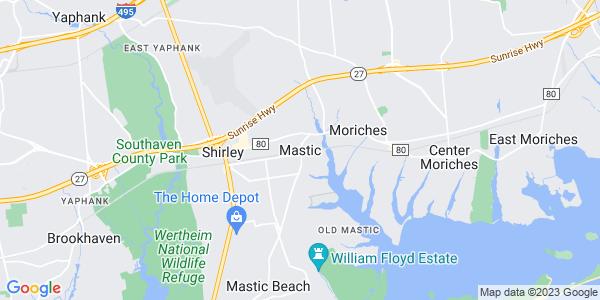 Map of Mastic, NY