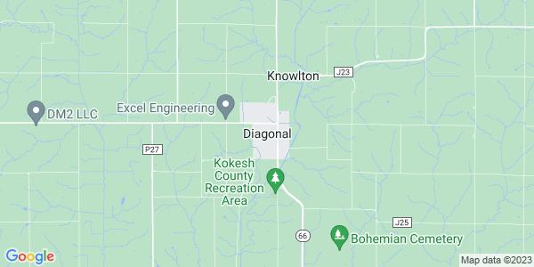 Map of Diagonal, IA