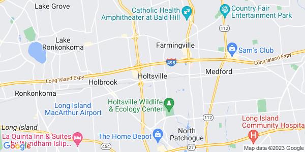 Map of Holtsville, NY