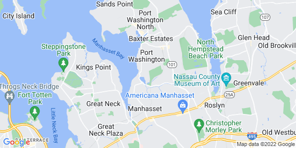 Map of Plandome Manor, NY
