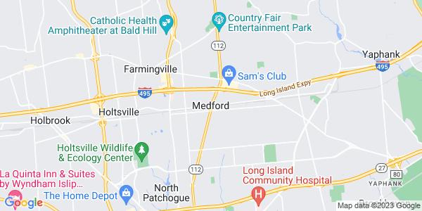 Map of Medford, NY
