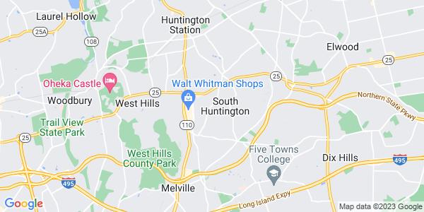 Map of South Huntington, NY