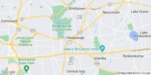 Map of Hauppauge, NY