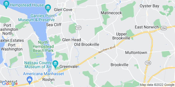 Map of Old Brookville, NY
