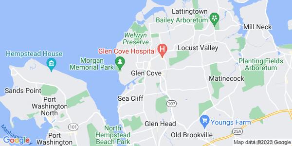 Map of Glen Cove, NY
