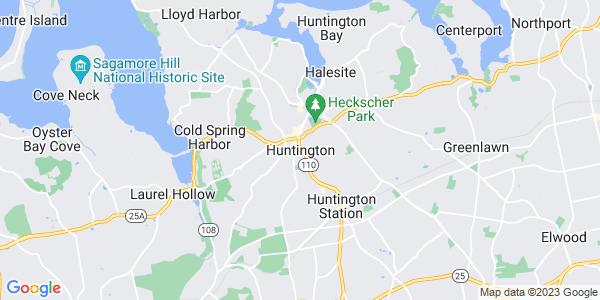 Map of Huntington CDP, NY