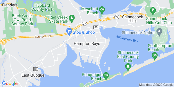 Map of Hampton Bays, NY