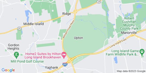 Map of Upton, NY