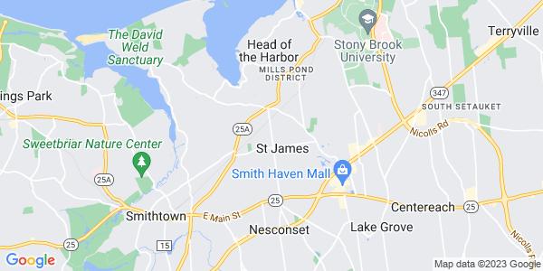 Map of St. James, NY