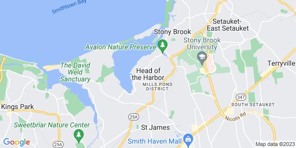 Map of Head of the Harbor, NY