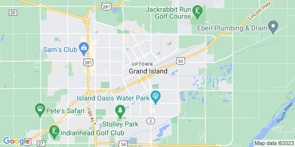 Map of Grand Island, NE