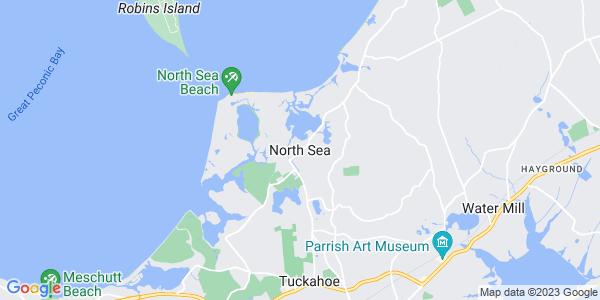 Map of North Sea, NY
