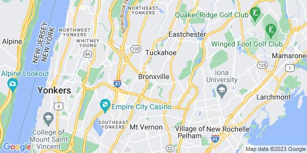 Map of Bronxville, NY