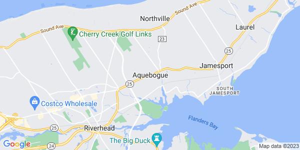 Map of Aquebogue, NY
