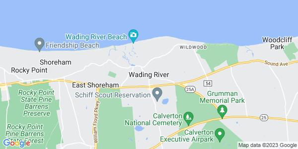 Map of Wading River, NY