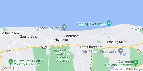 Map of Shoreham, NY