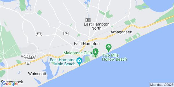 Map of East Hampton, NY