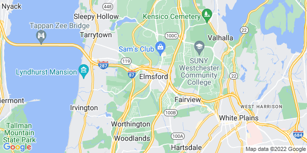 Map of Elmsford, NY