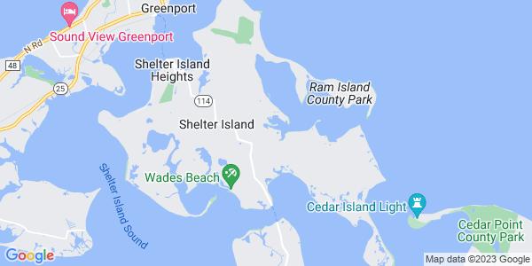 Map of Shelter Island, NY