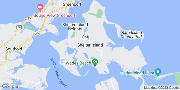Map of Shelter Island CDP, NY