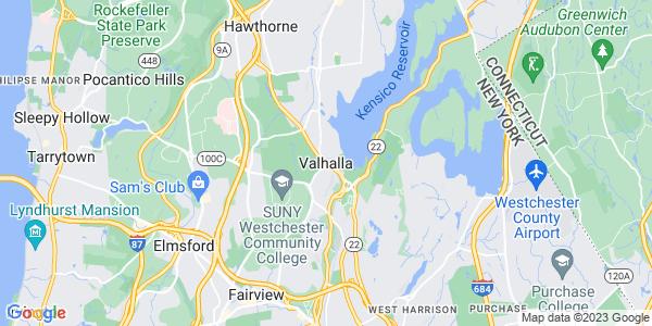 Map of Valhalla, NY